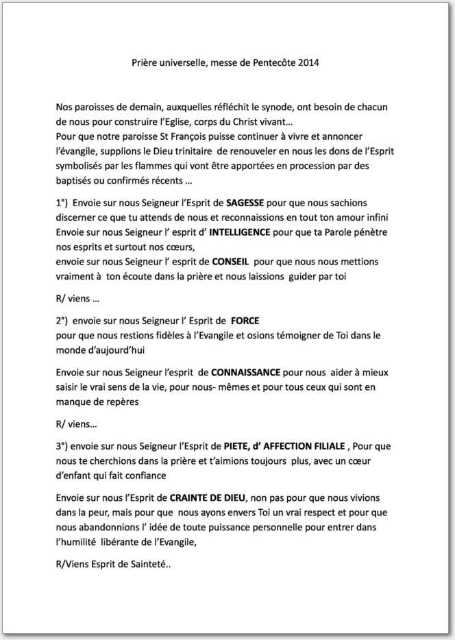 tlcharger le fichier pdf priere universelle pentecote bis 2 313 ko contenu du fichier - Priere Universelle Mariage