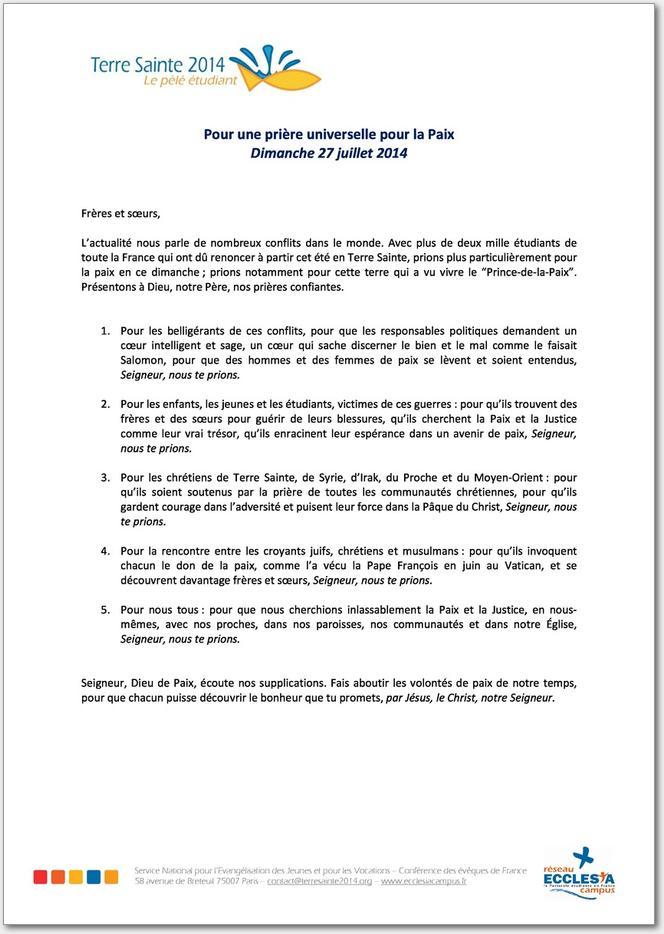 tlcharger le fichier pdf proposition priere universelle pour la paix 27 jui 2724 ko contenu du fichier - Priere Universelle Mariage