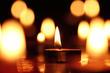 Candles light.