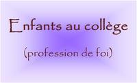 ENFANTS AU COLLEGE