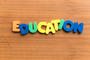 education colorful word