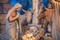 Krippenfiguren aus Holz, Weihnachtsgeschichte