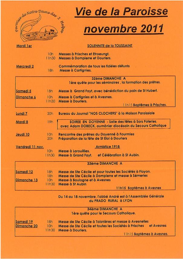 paroisse nov 2011