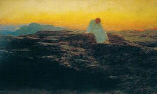 Tentation de Jesus au desert wikipedia Briton_Rivi
