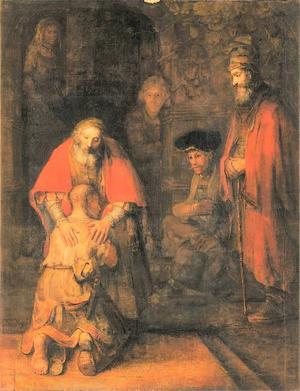 Le retour du fils prodigue de Rembrandt