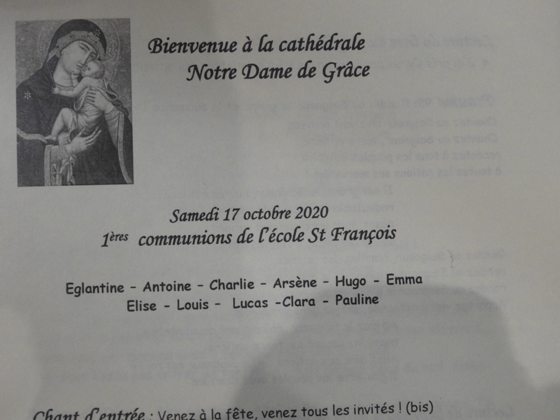 1eres communions St Francois 2020 (1)