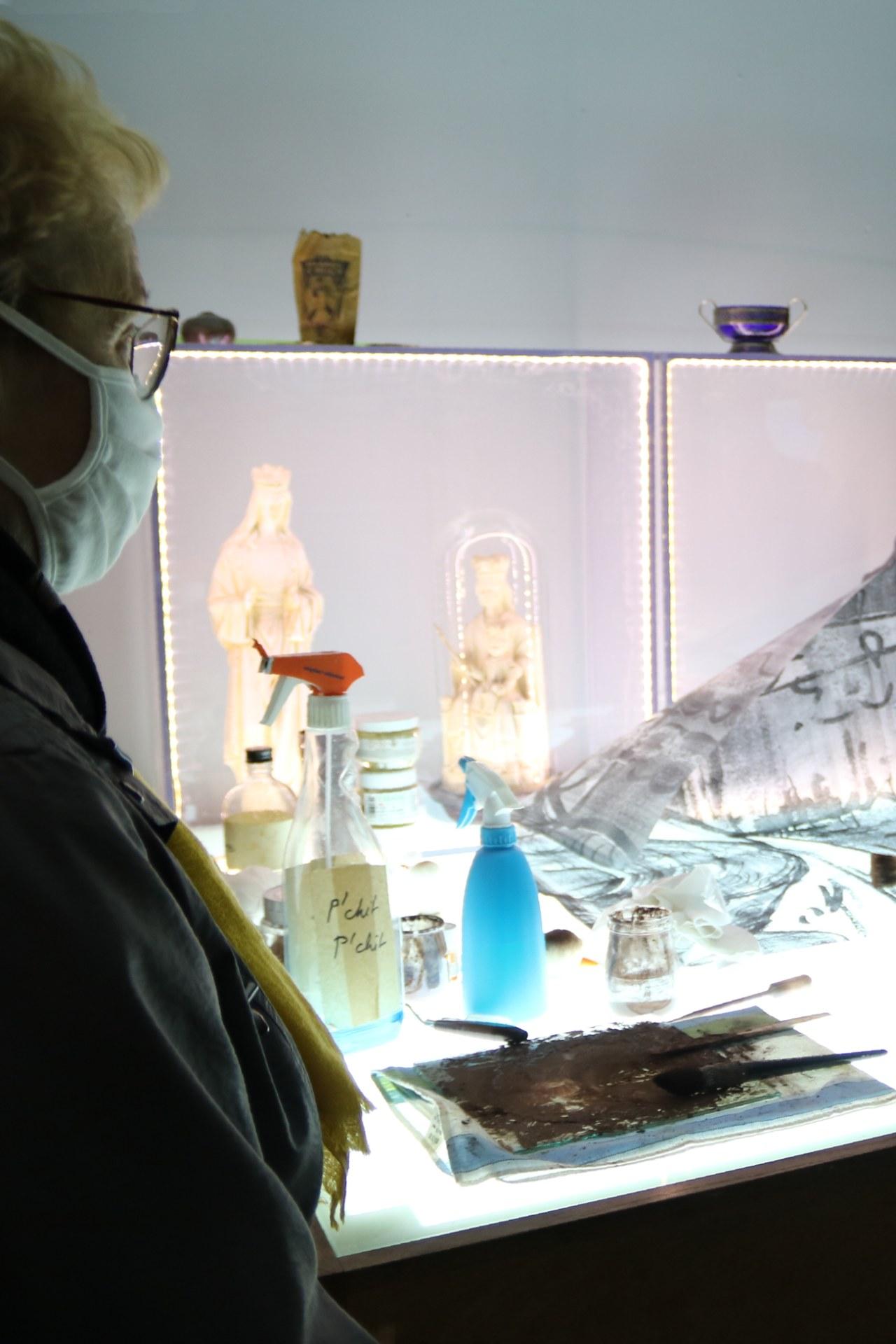 2010_Visite atelier Judith DEBRUYN 17