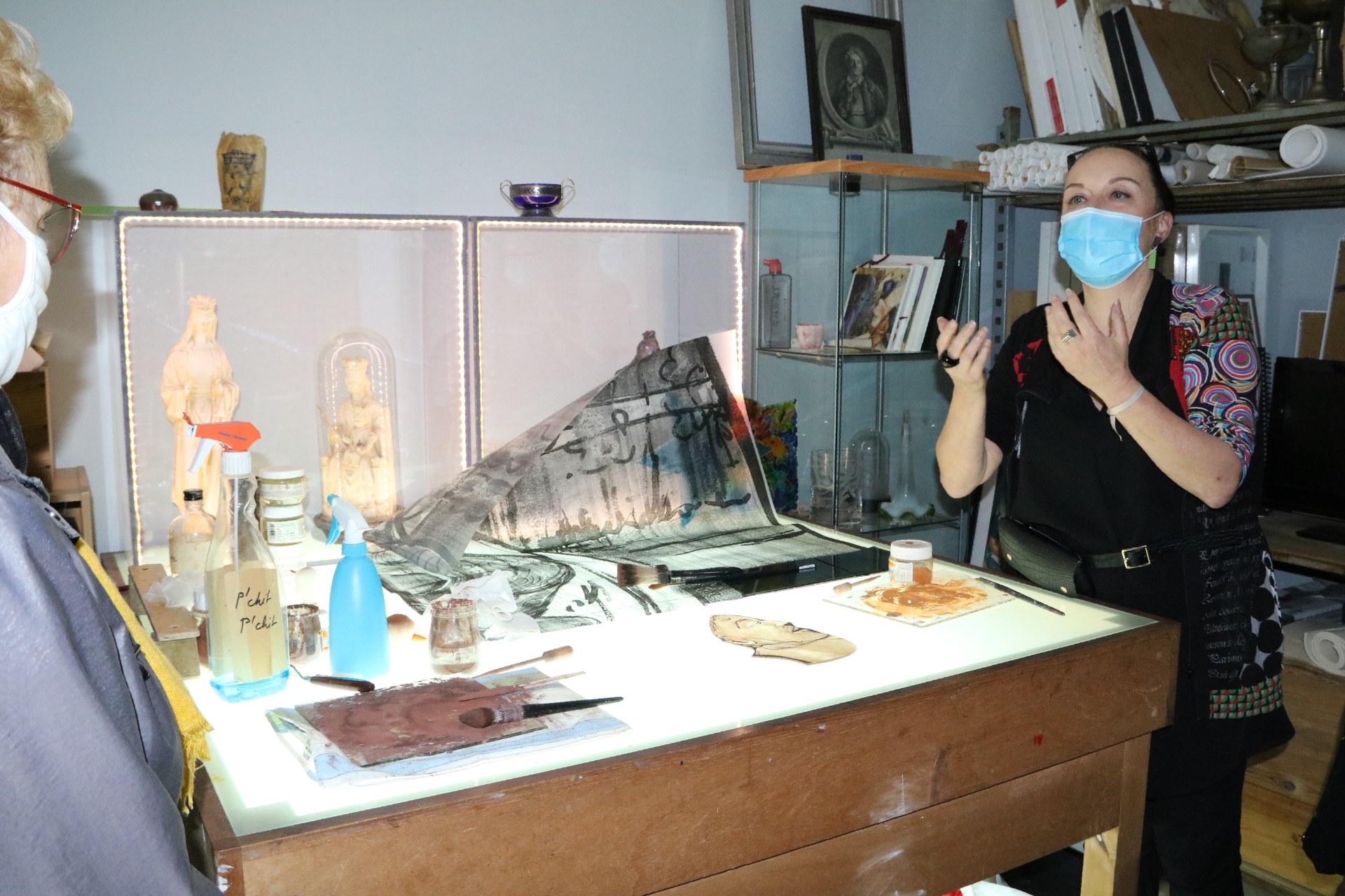 2010_Visite atelier Judith DEBRUYN 18