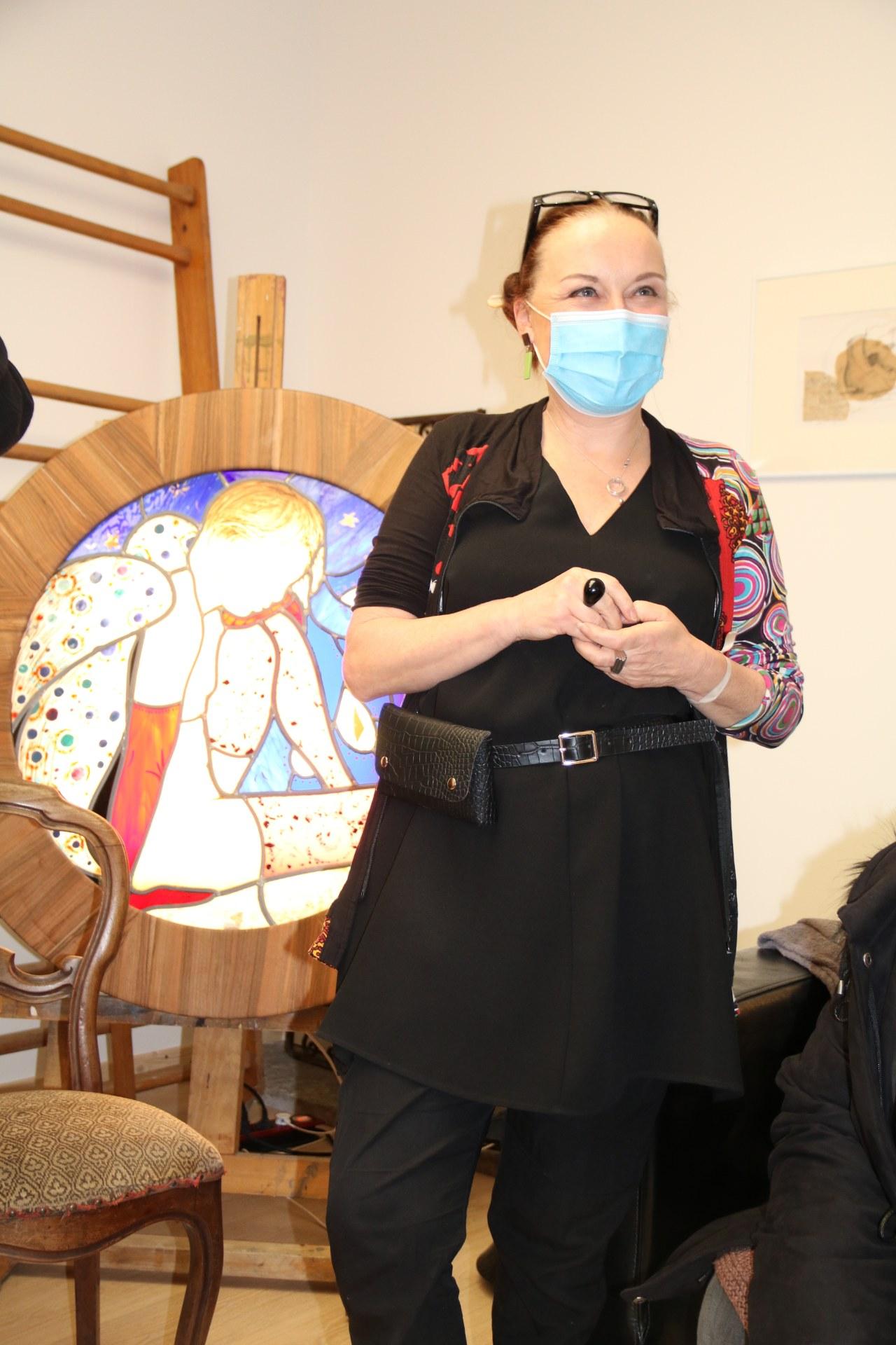 2010_Visite atelier Judith DEBRUYN 24