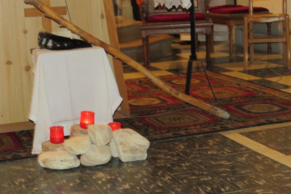 Bougies symbolisant chacune une semaine du temps de Carême