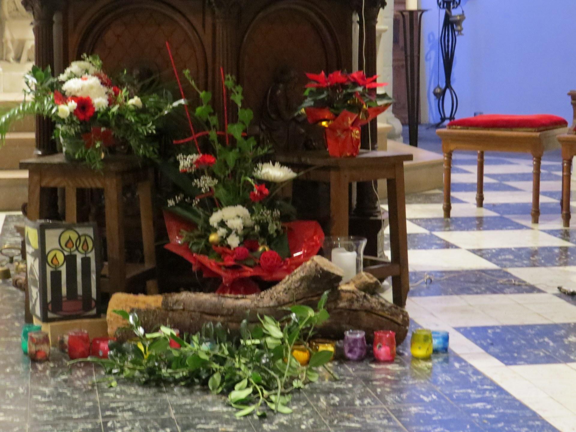 Une église fleurie...