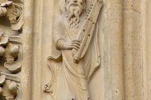 musicien statue