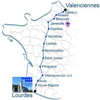 Carte des etapes Grande Visitation 3