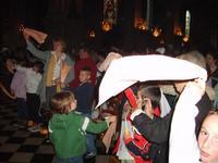 Le groupe et les autres paroissiens du doyenné se sont rassemblés à la cathédrale pour la célébration...