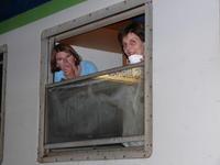 Dans le train certains veillent!!!