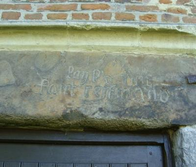 inscription de 1555 : l'an 55 fut faist cest maison