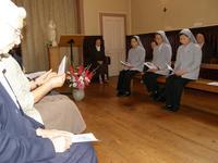 Les soeurs en prière au Carmel de Douai