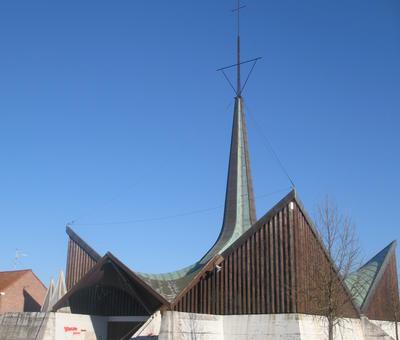 Eglise Sainte-Thérèse à Vieux-Condé (La Solitude)
