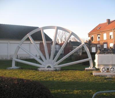 Ancienne roue de chevalet
