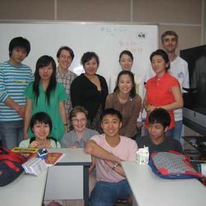 Notre première classe de coréen, juin 2006