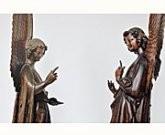 Statues bois (chêne) H avec les ailes 131.5 cm H. sans les ailes : 98,5 cm L. : 30cm