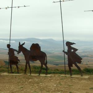 Alto de Perdon Sculptures en métal