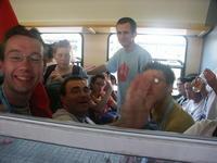 Dans le train qui mene au Rhin