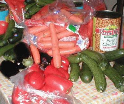 Voilà les légumes