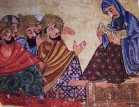 Socrate enseignant (enluminure arabe du XIIIe siècle, musée de Tppkapi, Istanbul)