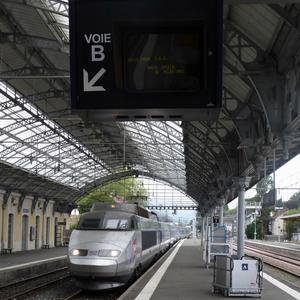Arrivée du premier train