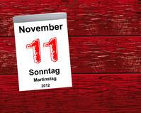 Kalender Holz - 11.11.2012 - Martinstag