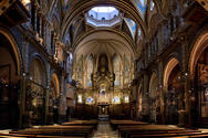 Basilica of Montserrat interior view