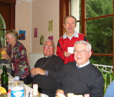 Jean-Claude, Mgr Garnier et Michel