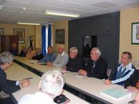 Michel Blas, président de RPSA, à la gauche de Mgr