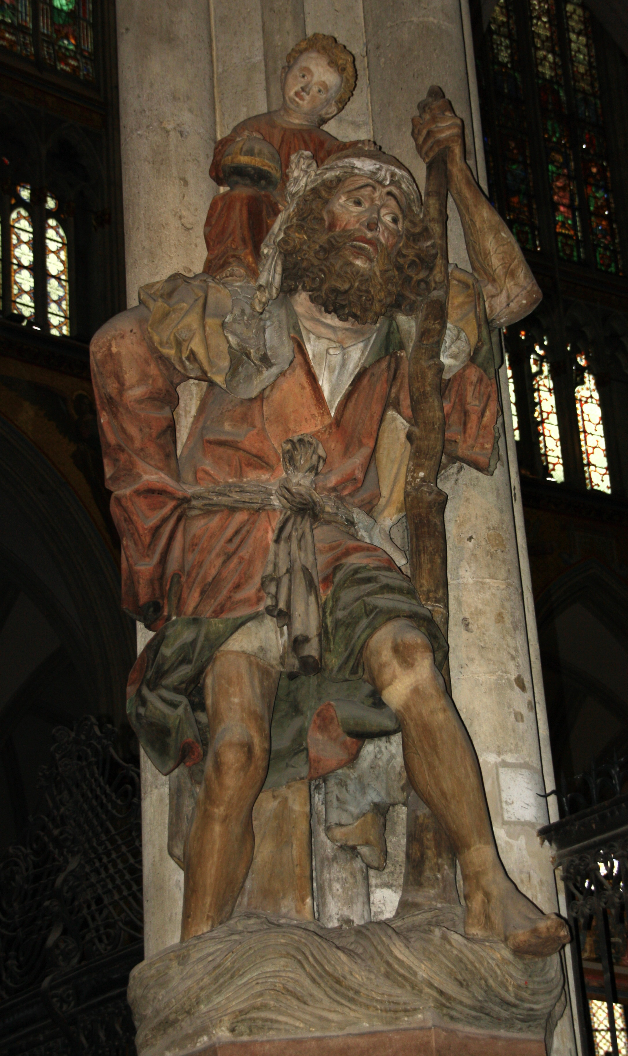 statue de Saint Christophe (vers 1470) Cathédrale de Cologne. Photo : P. Brillon
