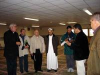 Accueil par le président de la mosquée El Feith