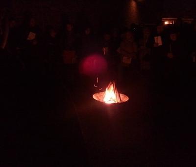 Les Scouts et Guides avaient préparé le feu