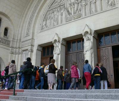 La visite de la basilique