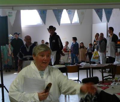 Christiane, responsable ACE organisatrice du repas et du voyage à Lourdes