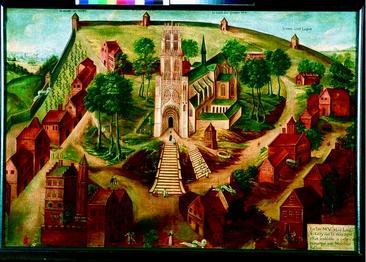 Cambrai, ancienne abbaye Saint Médard où fut inhumé st Géry - Mont des boeufs