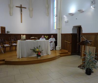 Les abbés Gérard Cagnon et Jean Vérin