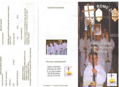 Servants autel Rome