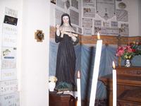 Ste Rita dans l'église de Blanc-Misseron