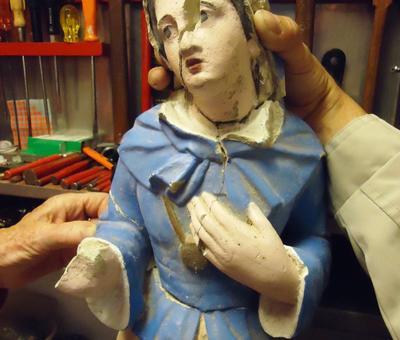 statue avant réparation