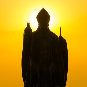Pope Statue Silhouette