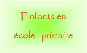 ENFANTS EN ECOLE PRIMAIRE