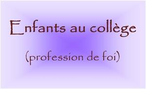 ENFANTS AU COLLEGE