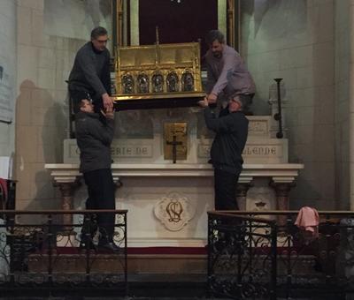 Benediction stele Nouvelle Confrerie 1 nov 2015 01