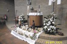 une magnifique crèche avec de beaux bouquets : Merci Maria !