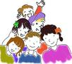 Groupe d'enfants colore